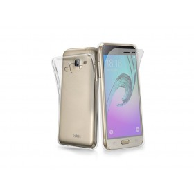 SBS Aero ümbris Samsung Galaxy J3'le, läbipaistev, koos ekraani kaitsekilega
