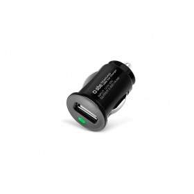 SBS Autolaadija USB pesaga 1A, must (SBSOAPU010)