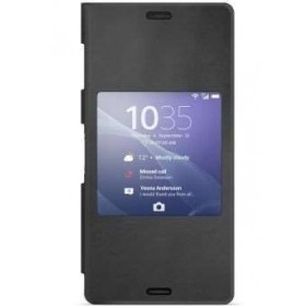Sony Style Cover Window mobiiliümbris Sony Xperia Z3'le, must