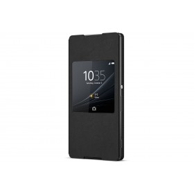 Sony Style Cover Window mobiiliümbris Sony Xperia Z3+'le, must