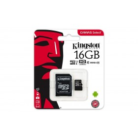Kingston Canvas Select 16GB MicroSDHC Class10 mälukaart