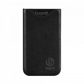 Bugatt SlimFit kott, must nahk, HTC One S