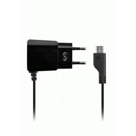 Fonex micro-USB SLIM võrgulaadija, 1A, must