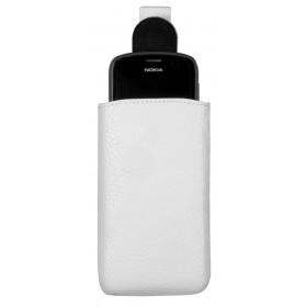 Milano universaalne täisnahast mobiilikott XL, valge