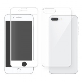 Eiger 3D 360 GLASS Tempered Glass Screen Protector for Apple iPhone 8Plus in Clear/White