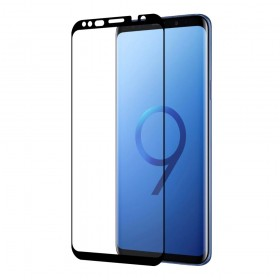 Eiger 3D GLASS Full Screen Tempered Glass Screen Protector for Samsung Galaxy S9 in Clear/Black