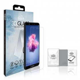Eiger 3D GLASS Full Screen Tempered Glass Screen Protector for Huawei P Smart in Clear